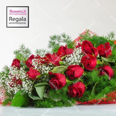 AMORE - Fascio di rose rosse