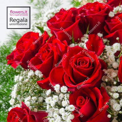 PASSIONE - Bouquet rose rosse